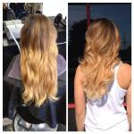 From a standard ombre, to a gorgeous natural ombre! Stylist: Haley