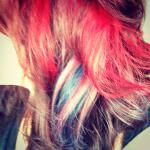 Funky, patriotic red, white, and blue hair! Stylist: Amy